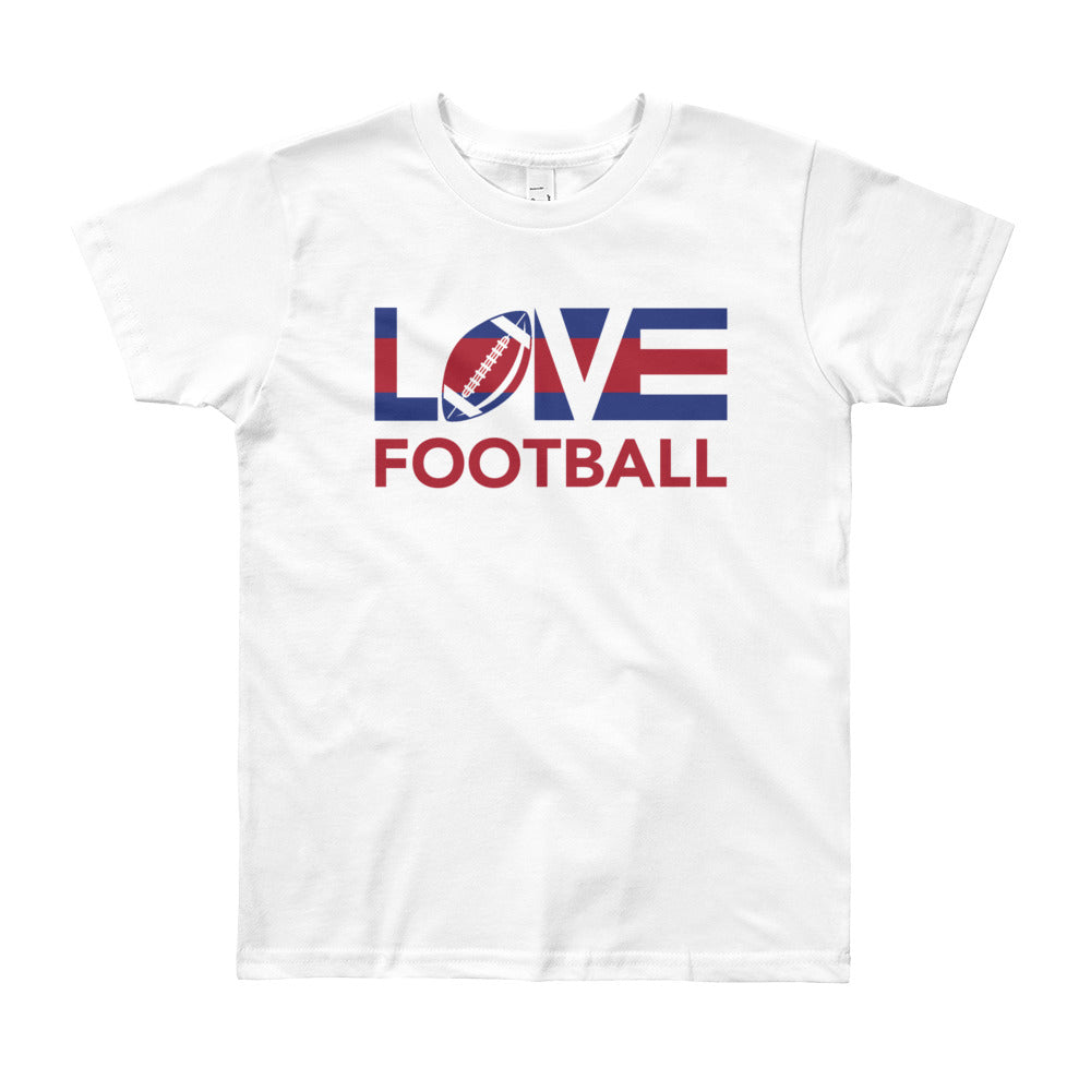 White LOV=Football Youth Tee