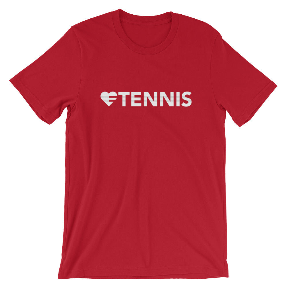 Red Heart=Tennis Unisex Tee