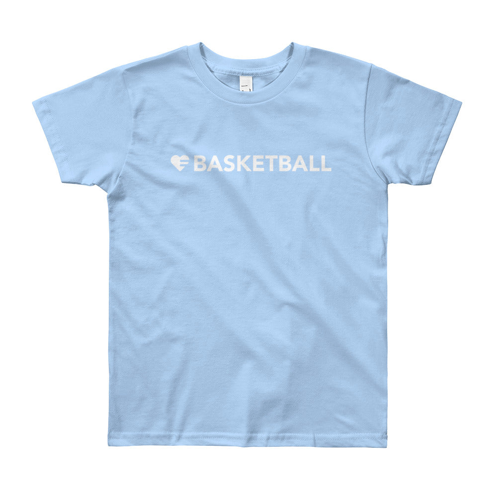 Baby Blue Heart=Basketball Youth Tee