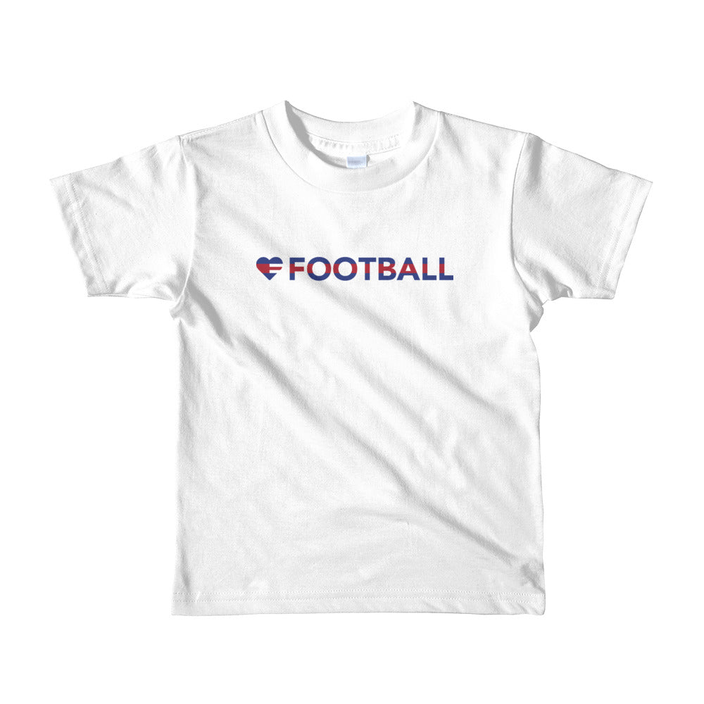 White Heart=Football Kids Tee