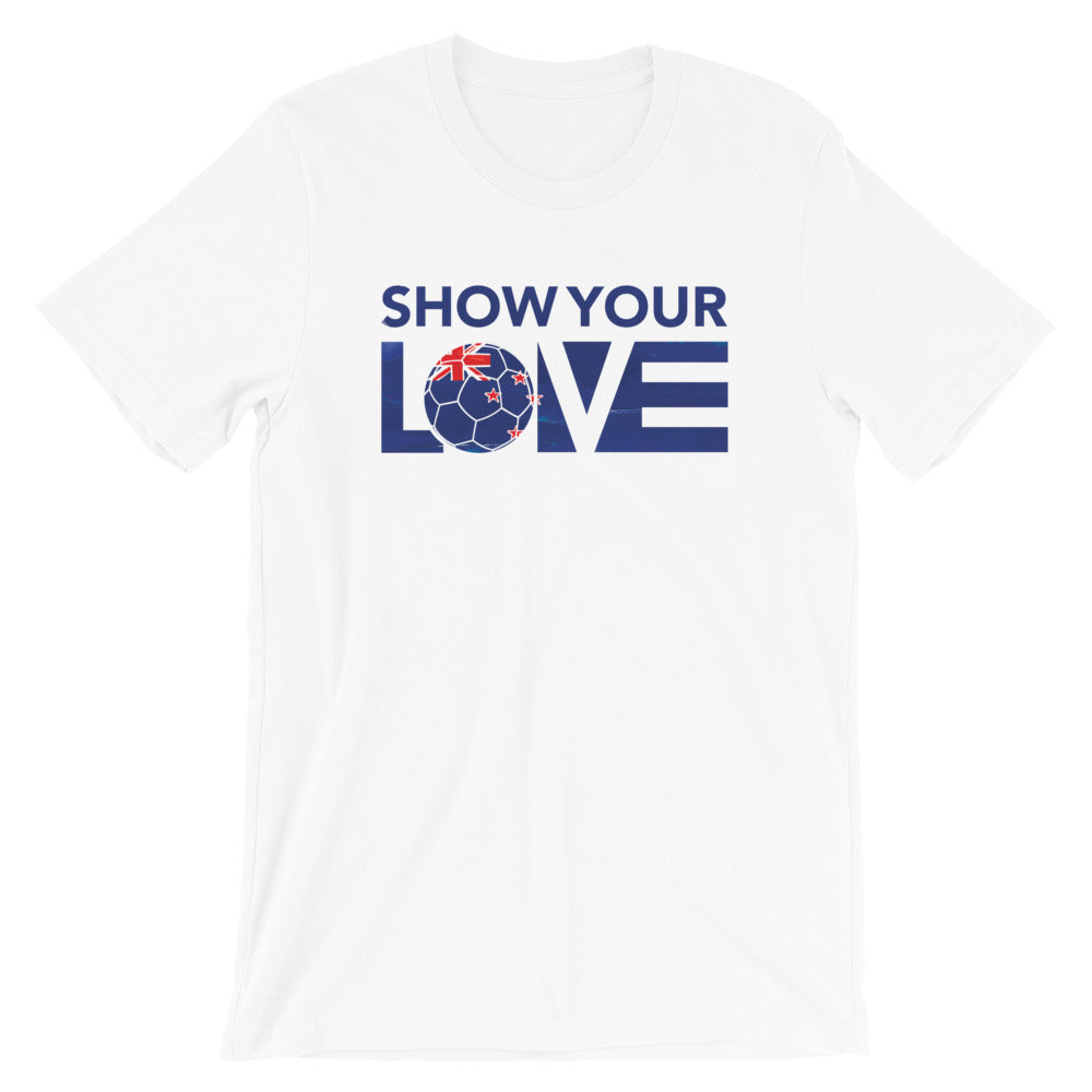 White Show Your Love New Zealand Unisex Tee