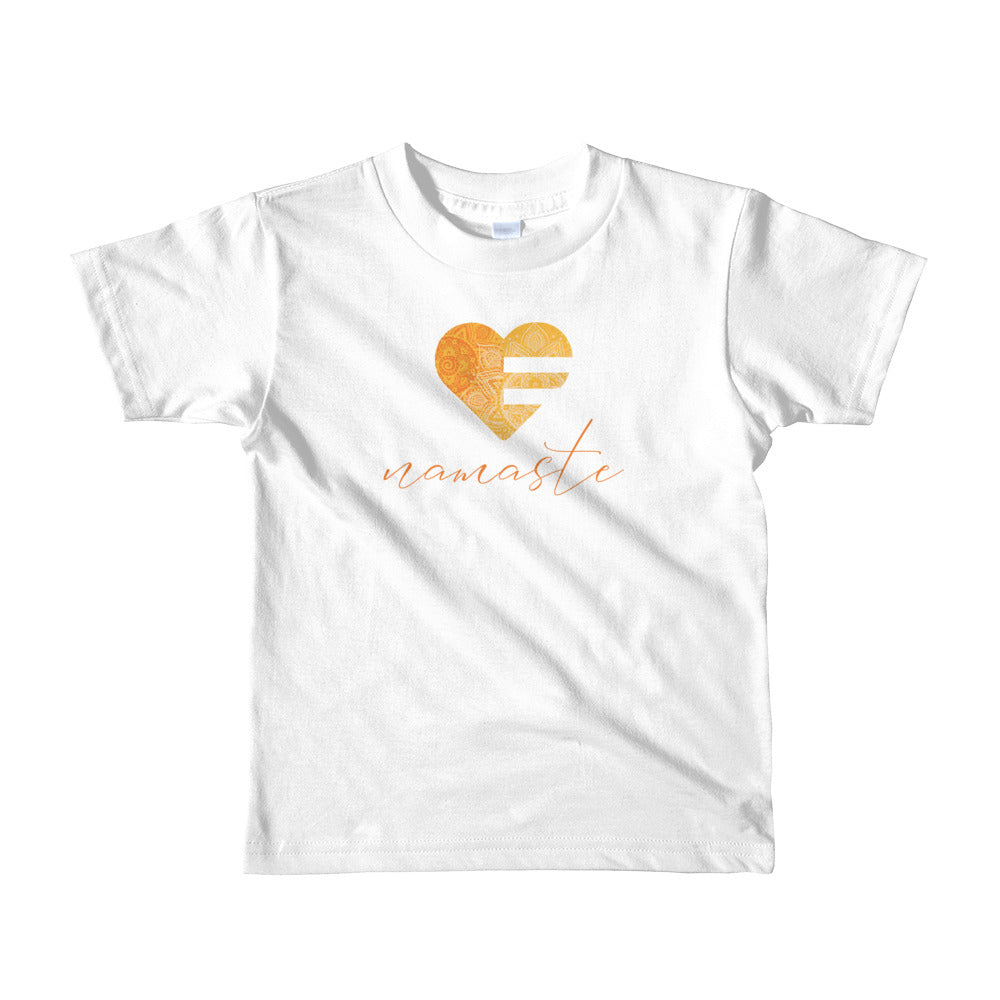 White Heart Namaste Kids Tee