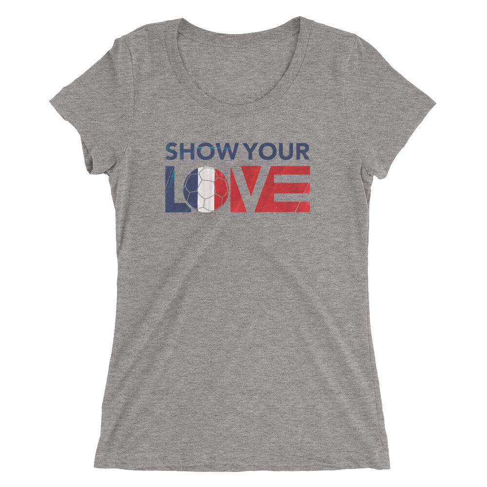 Grey Triblend Show Your Love France Ultra Slim Fit Tee