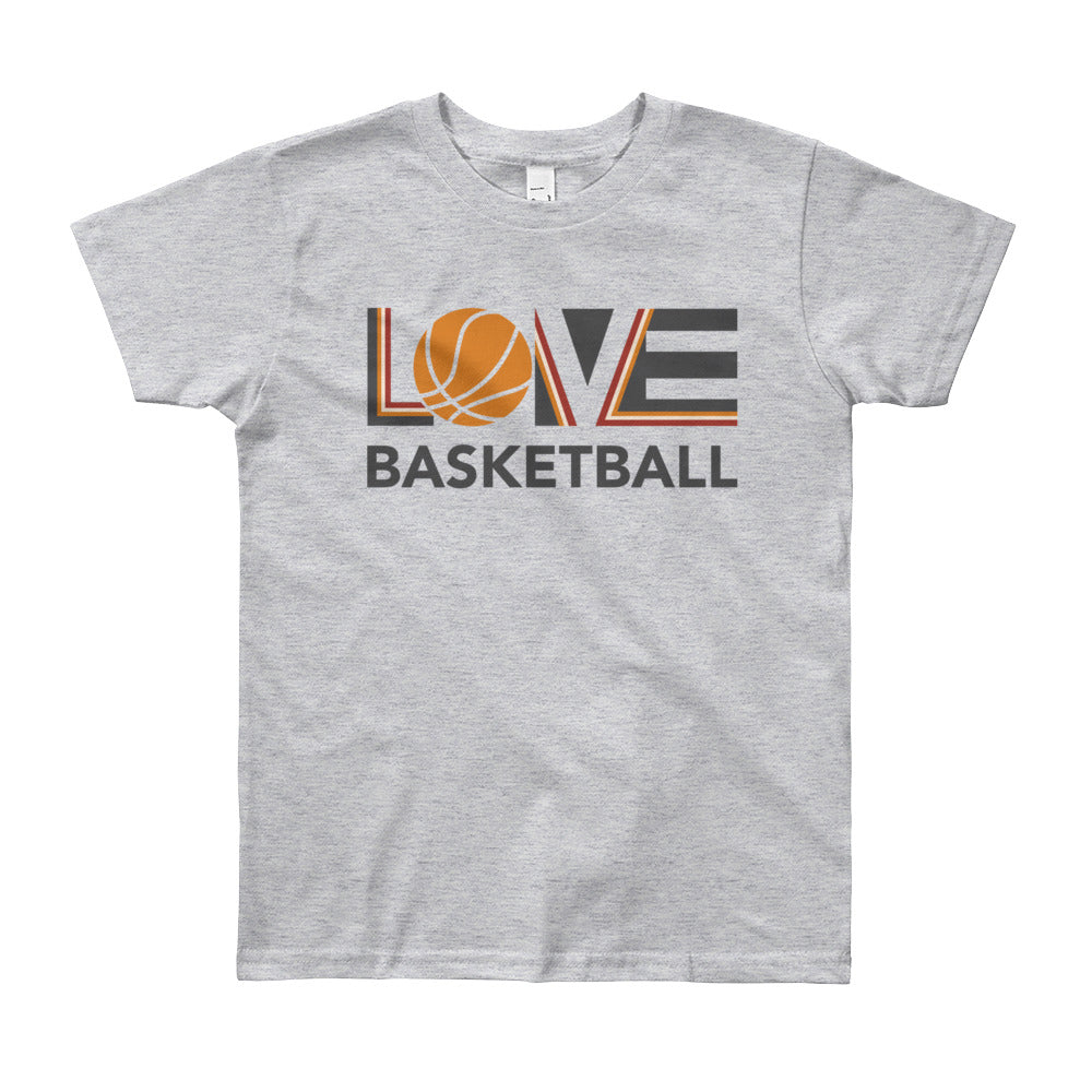 Heather grey LOV=Basketball Youth Tee