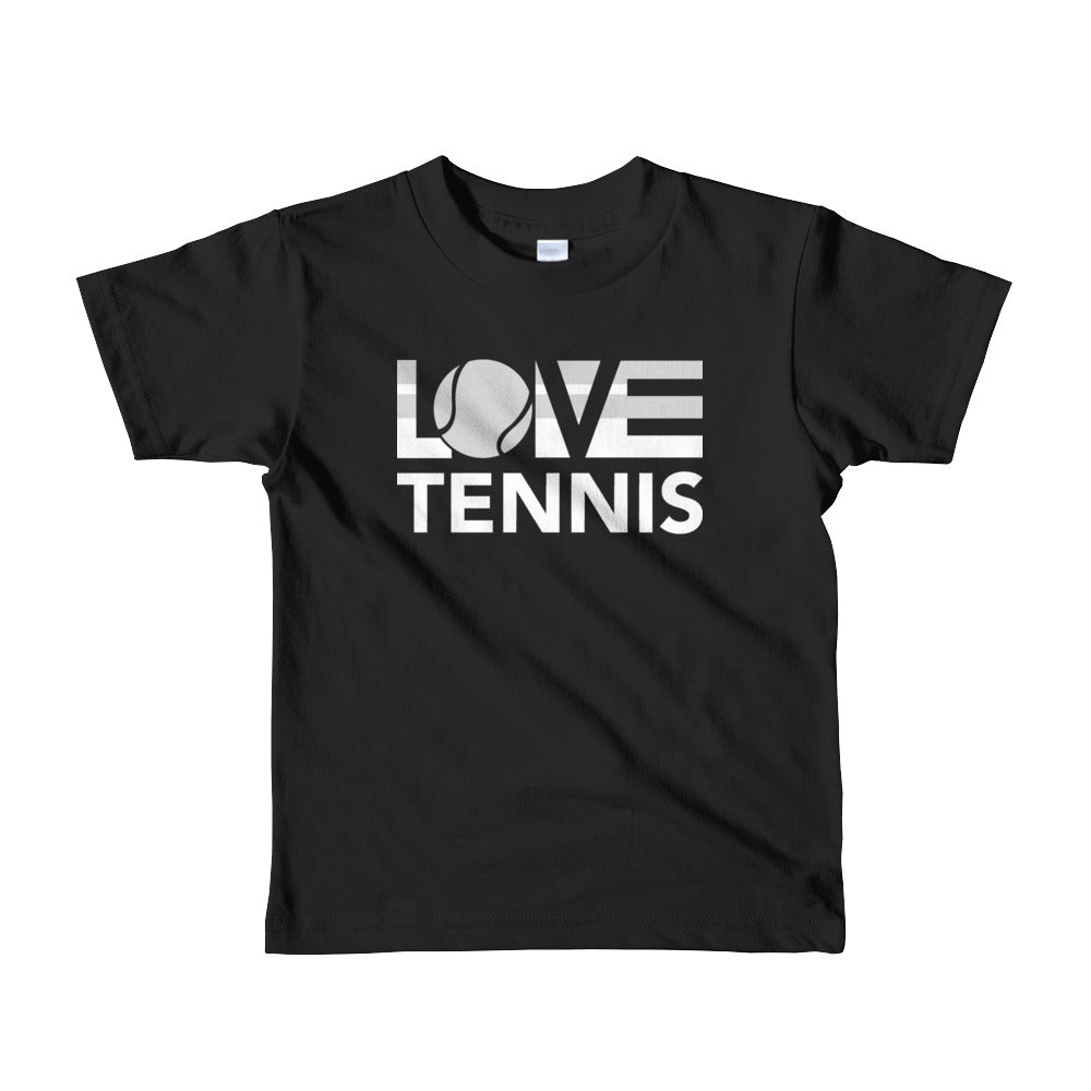 Black LOV=Tennis Kids Tee