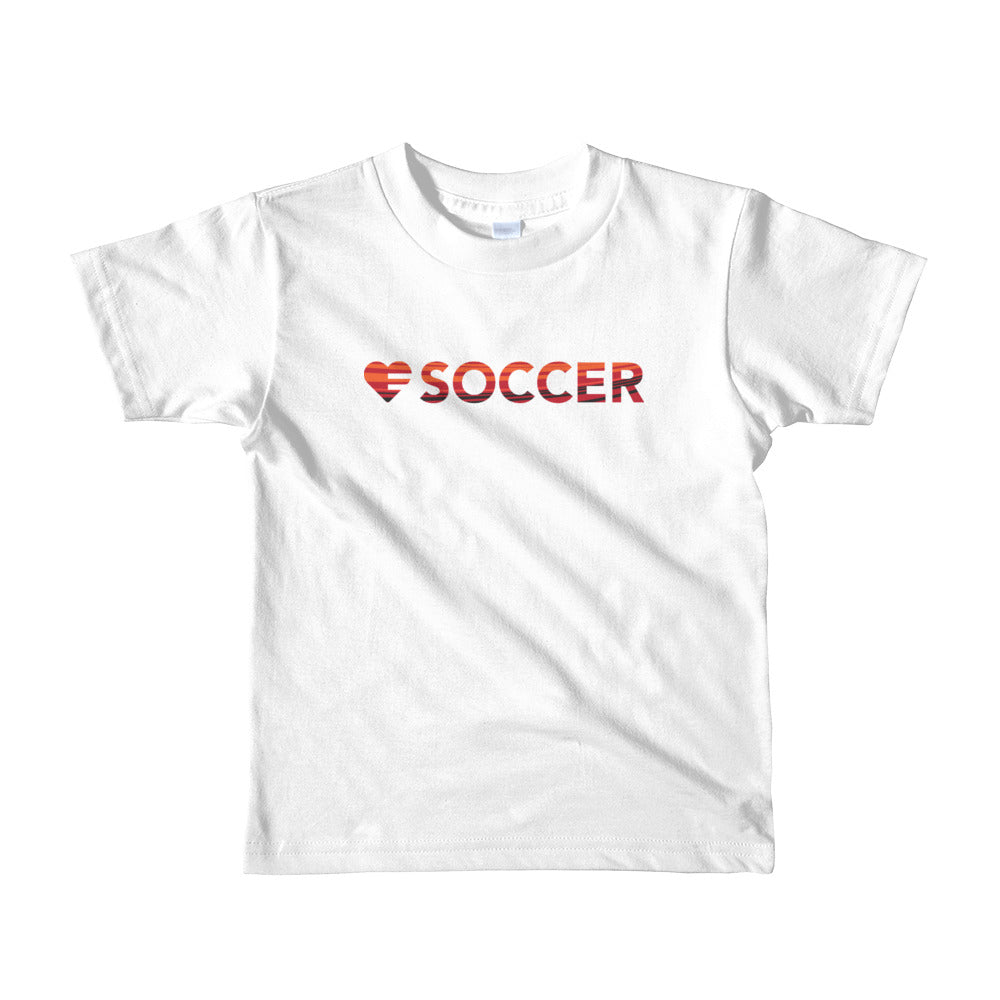 White Heart=Soccer Kids Tee