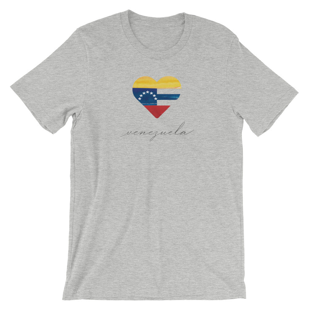 Athletic Heather Venezuela Heart Unisex Tee