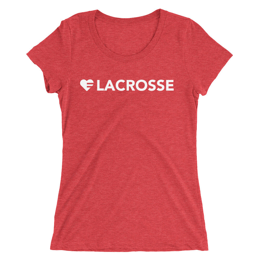 Red Heart=Lacrosse Ultra Slim Fit Triblend Tee