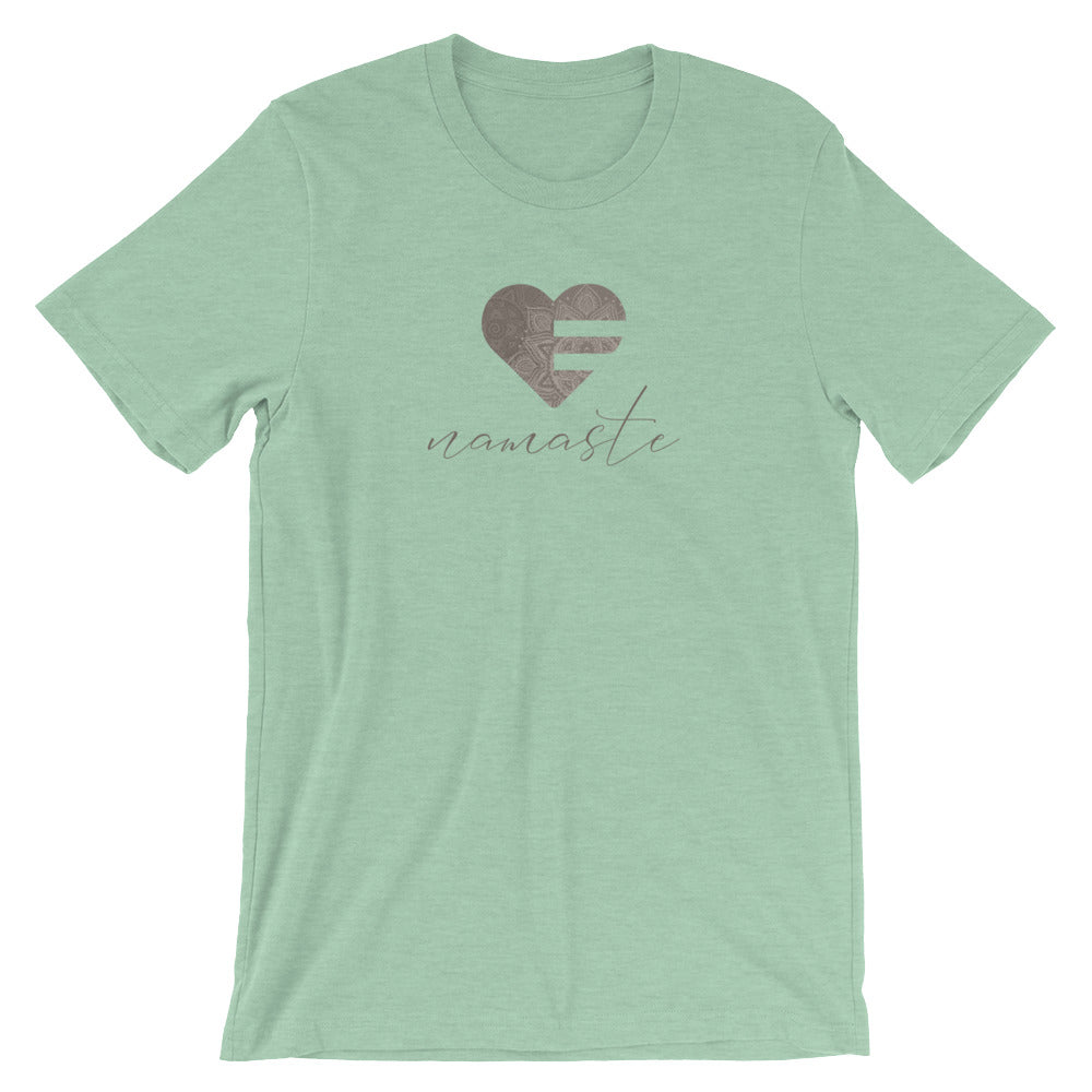 Heather Prism Mint Heart Namaste Unisex Tee