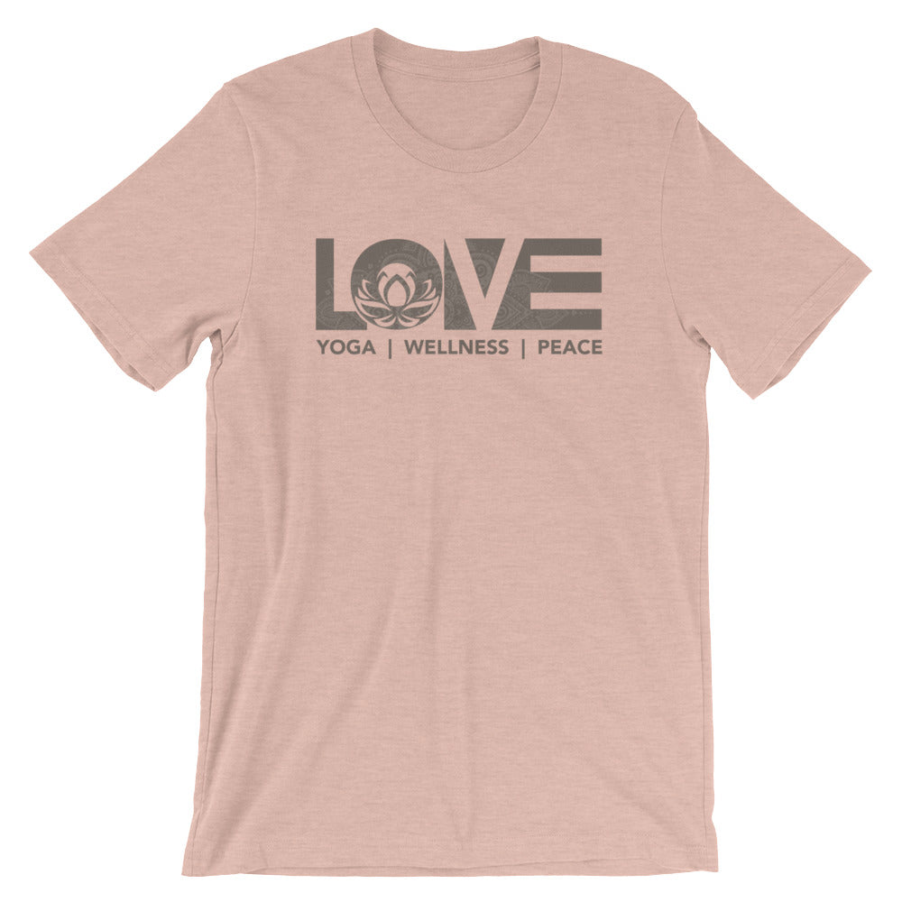 Heather Prism Peach LOV=Yoga Unisex Tee