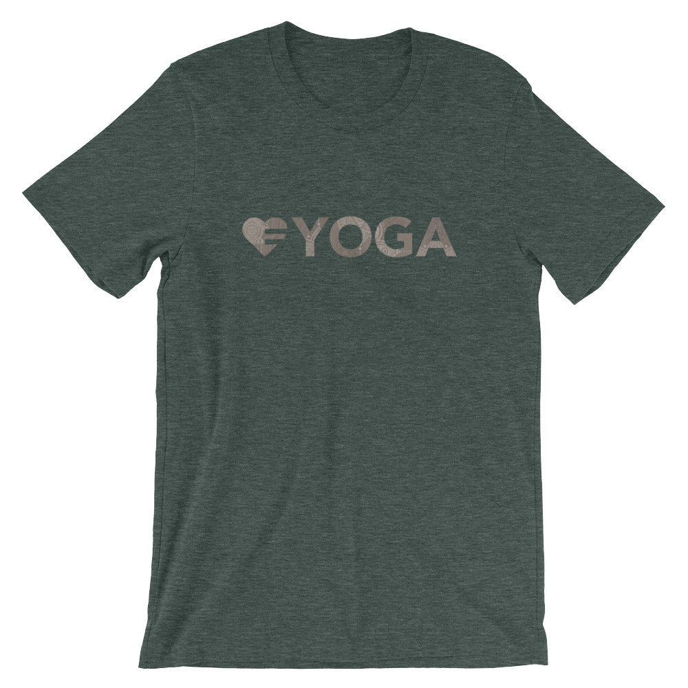 Heather forest Heart=Yoga Unisex Tee