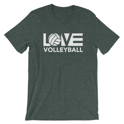 LOV=Volleyball Unisex Tee