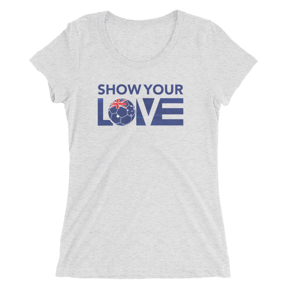 White Show Your Love Australia Slim Fit Tee