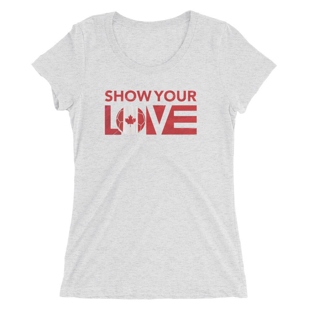 Show Your Love Canada Slim Fit Tee White Fleck Triblend