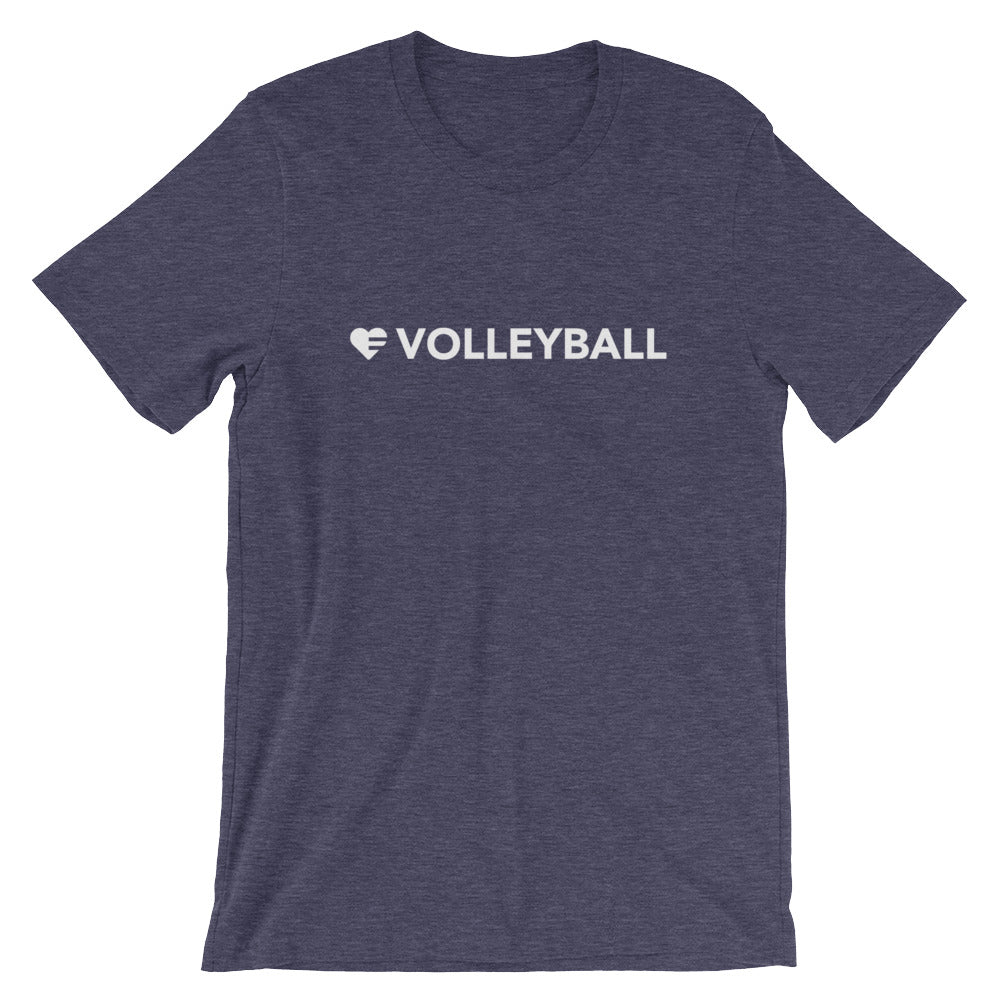 Midnight navy Heart=Volleyball Unisex Tee