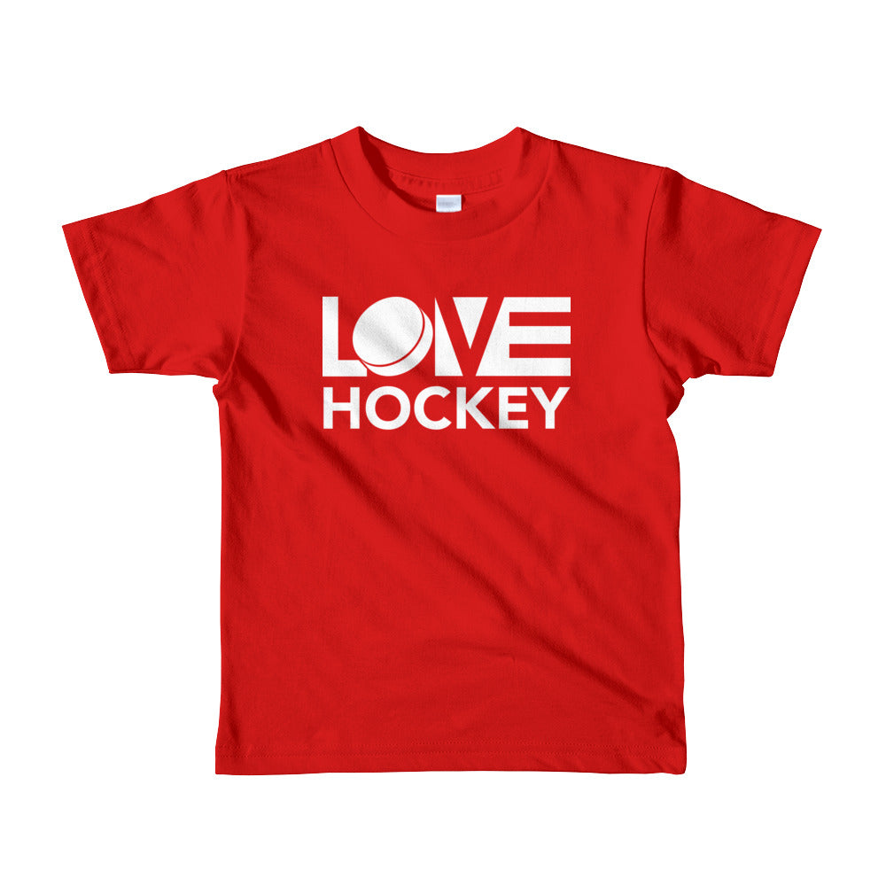 Red LOV=Hockey Kids Tee