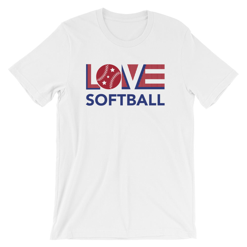 Happy LOV=Softball Unisex Tee