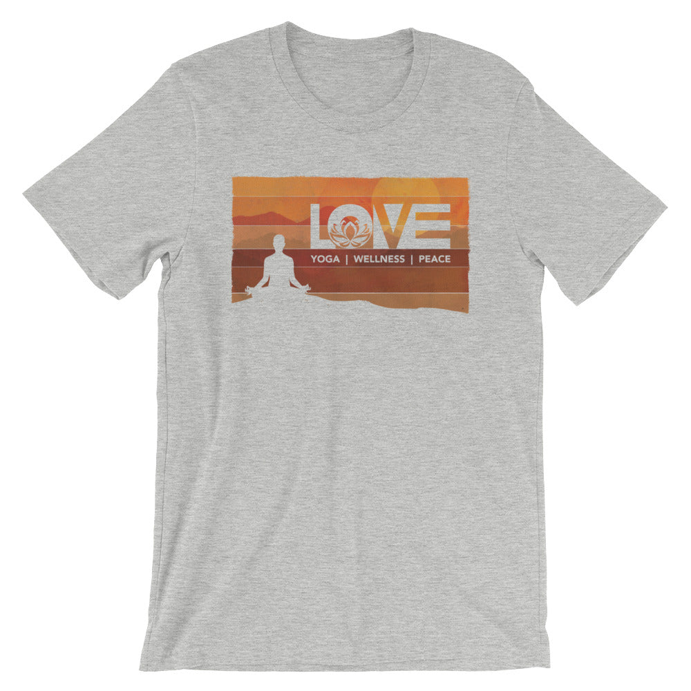 Athletic Heather LOV=Yoga Vintage Unisex Tee