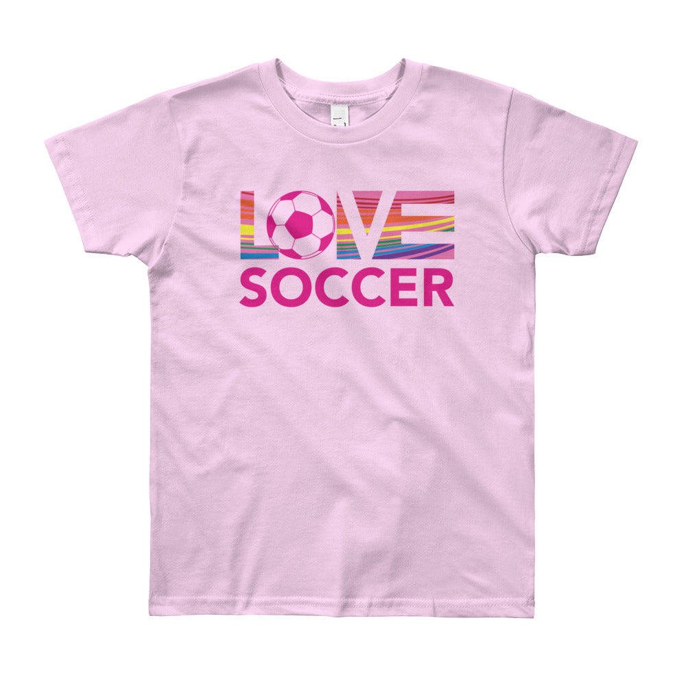 Pink LOV=Soccer Youth Tee