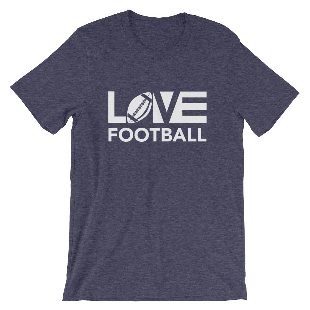 Midnight navy LOV=Football Unisex Tee