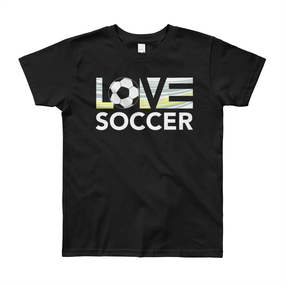 Black LOV=Soccer Youth Tee