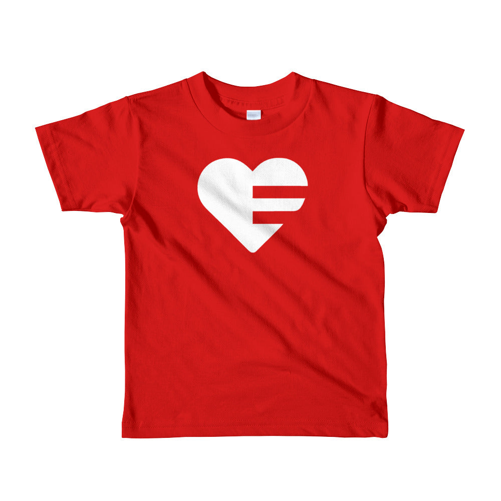 Red Solo Heart Kids Tee