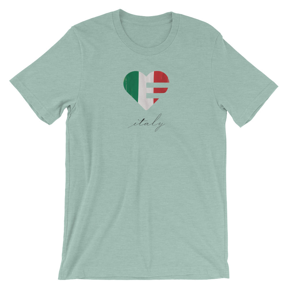 Dusty blue Italy Heart Unisex Tee