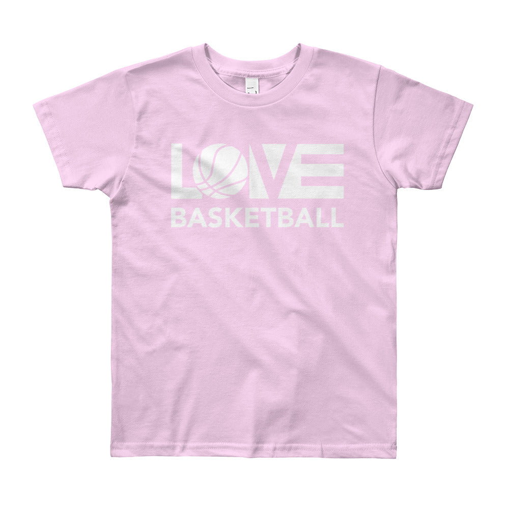 Pink LOV=Basketball Youth Tee