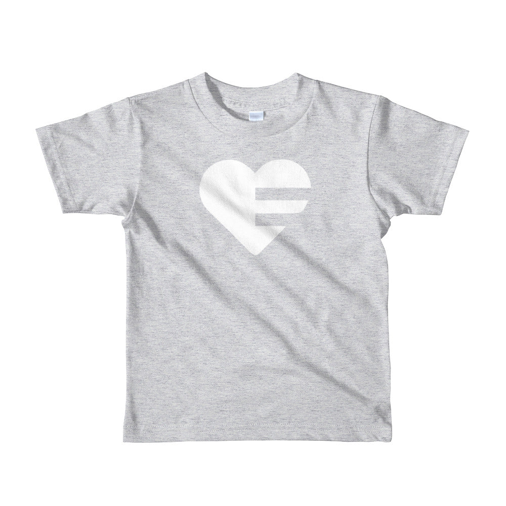 Grey Solo Heart Kids Tee