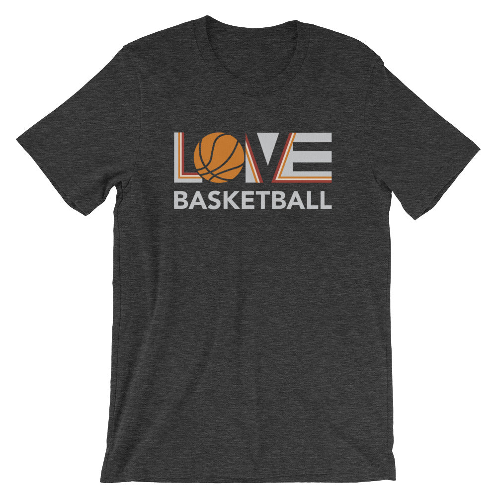 Dark grey LOV=Basketball Unisex Tee