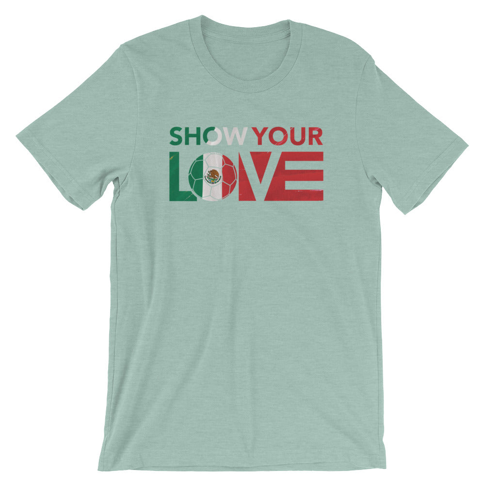 Heather Prism Dusty Blue Show Your Love Mexico Unisex Tee