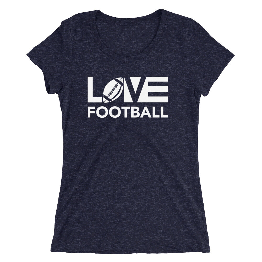 Navy LOV=Football Ultra Slim Fit Triblend Tee