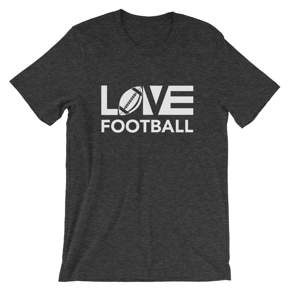 Dark grey LOV=Football Unisex Tee