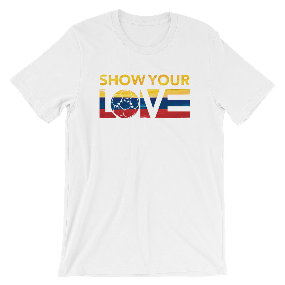 White Show Your Love Venezuela Unisex Tee