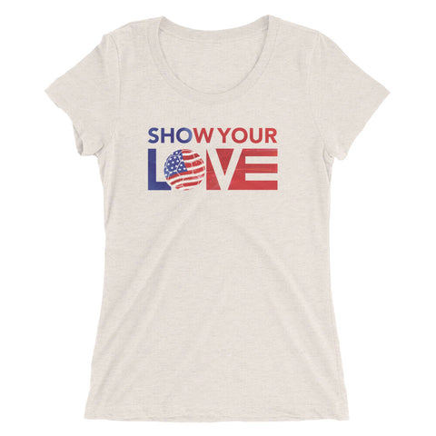 Show Your Love USA Ultra Slim Fit Tee