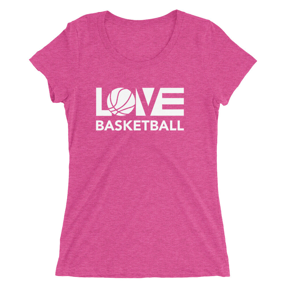 Berry LOV=Basketball Ultra Slim Fit Triblend Tee