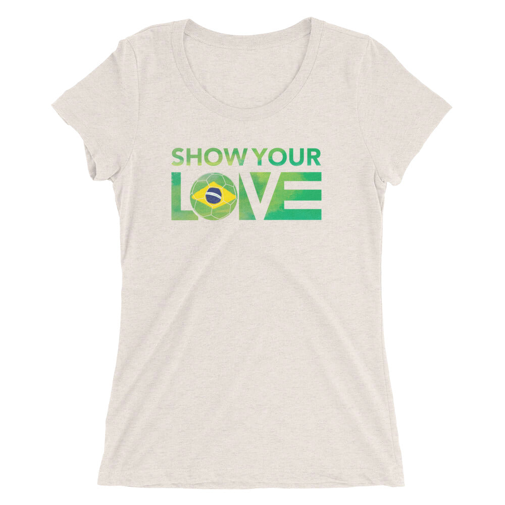 Oatmeal Show Your Love Brazil Ultra Slim Fit Tee
