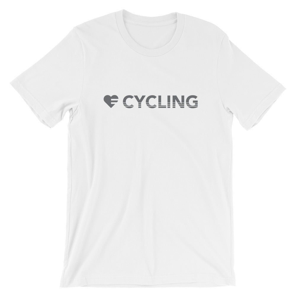 White Heart=Cycling Unisex Tee