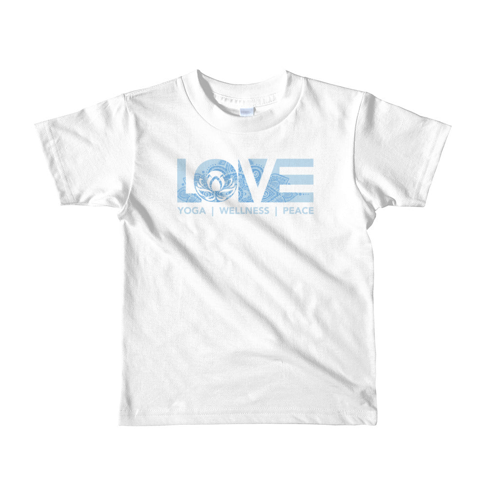 White LOV=Yoga Kids Tee