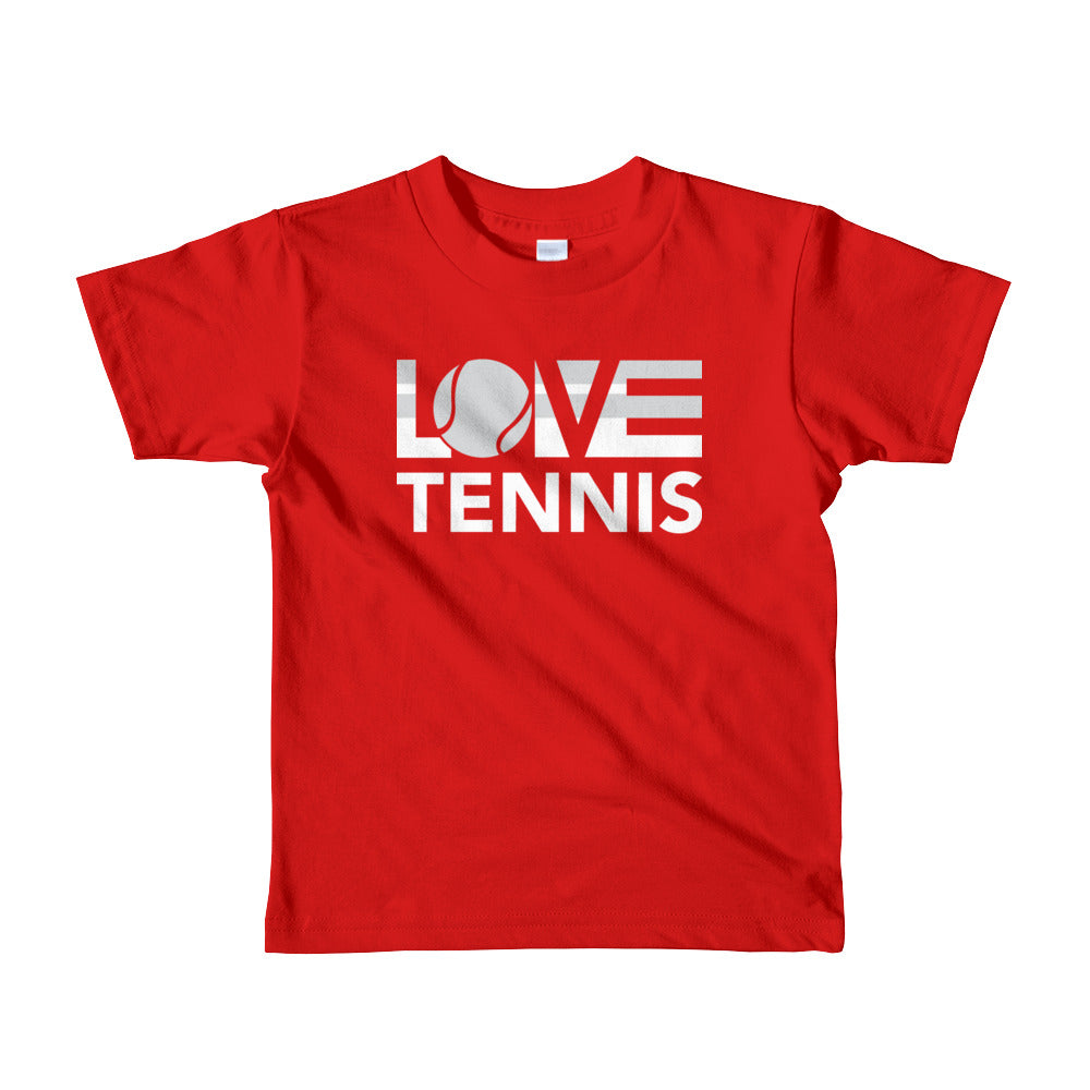 Red LOV=Tennis Kids Tee