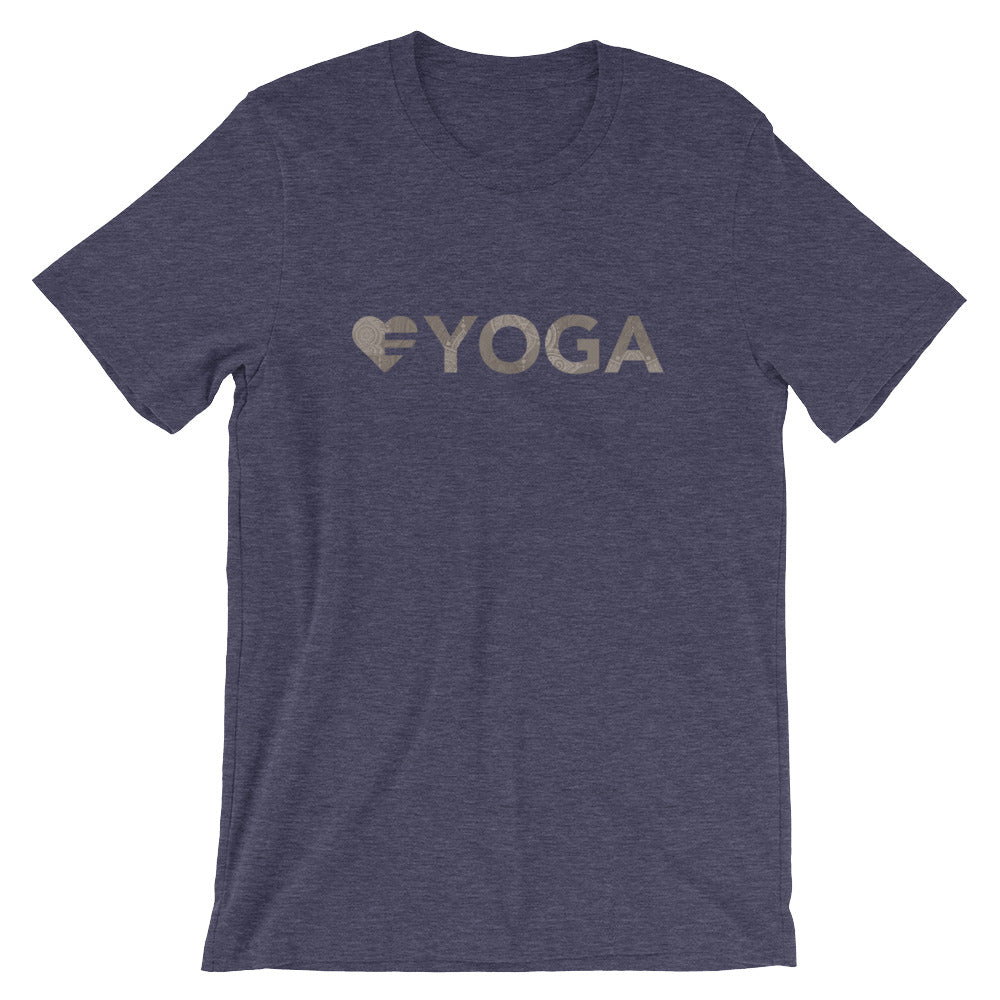 Midnight navy Heart=Yoga Unisex Tee