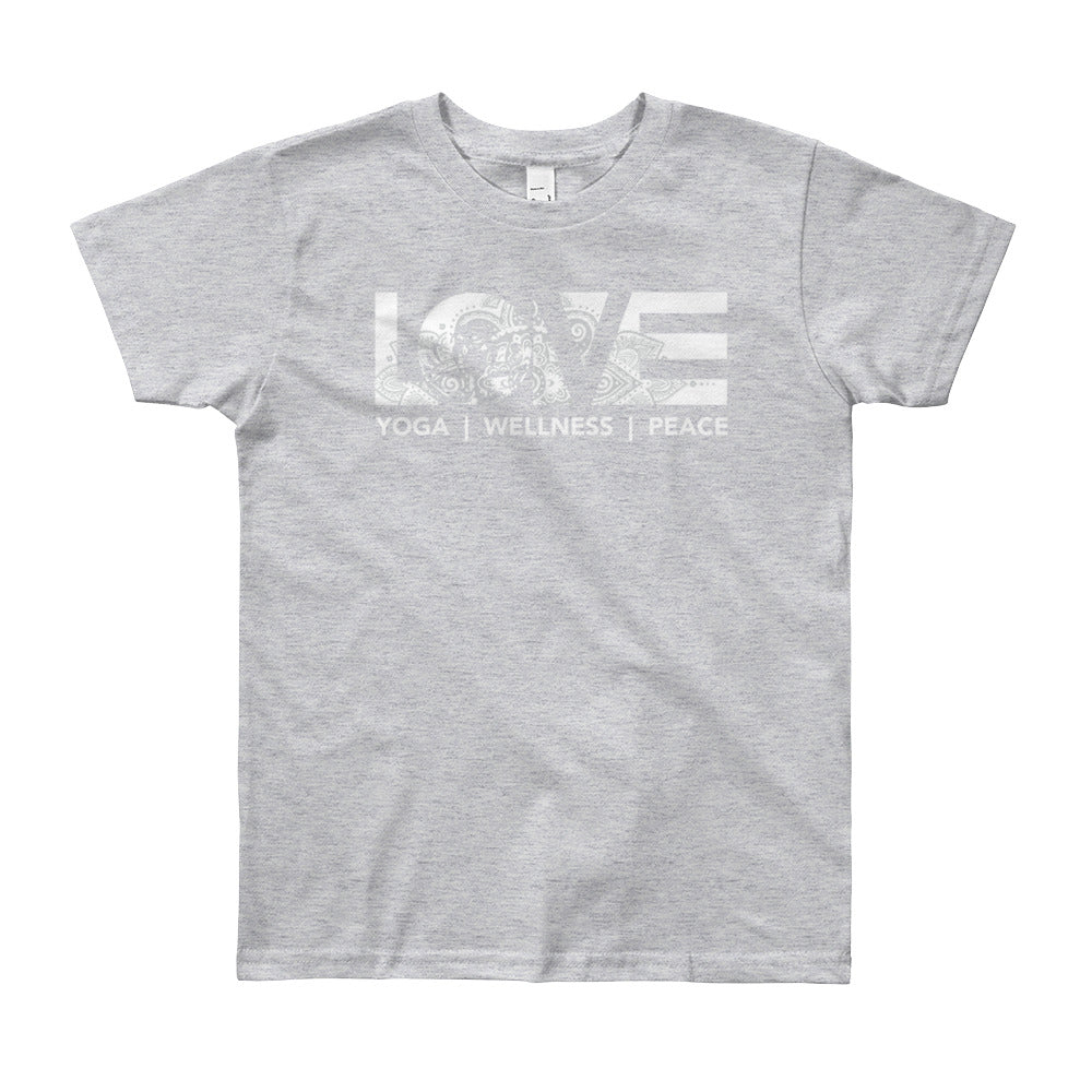 Heather Grey LOV=Yoga Youth Tee