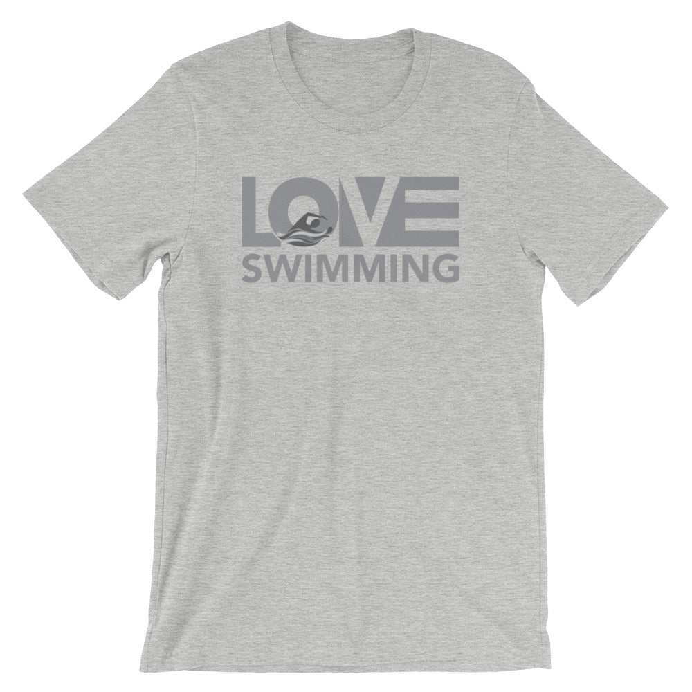 Athletic heather LOV=Swimming Unisex Tee