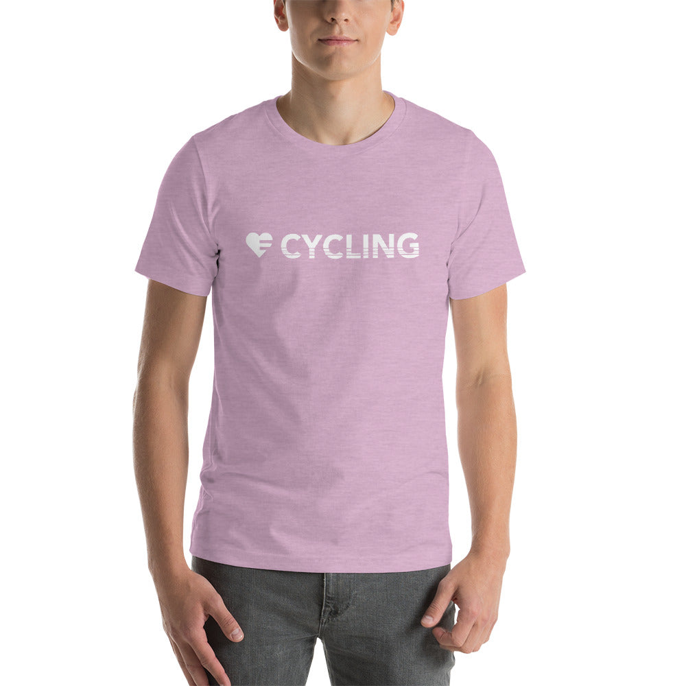 Prism Lilac Heart=Cycling Unisex Tee
