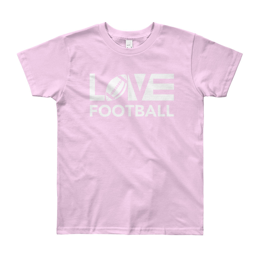 Pink LOV=Football Youth Tee
