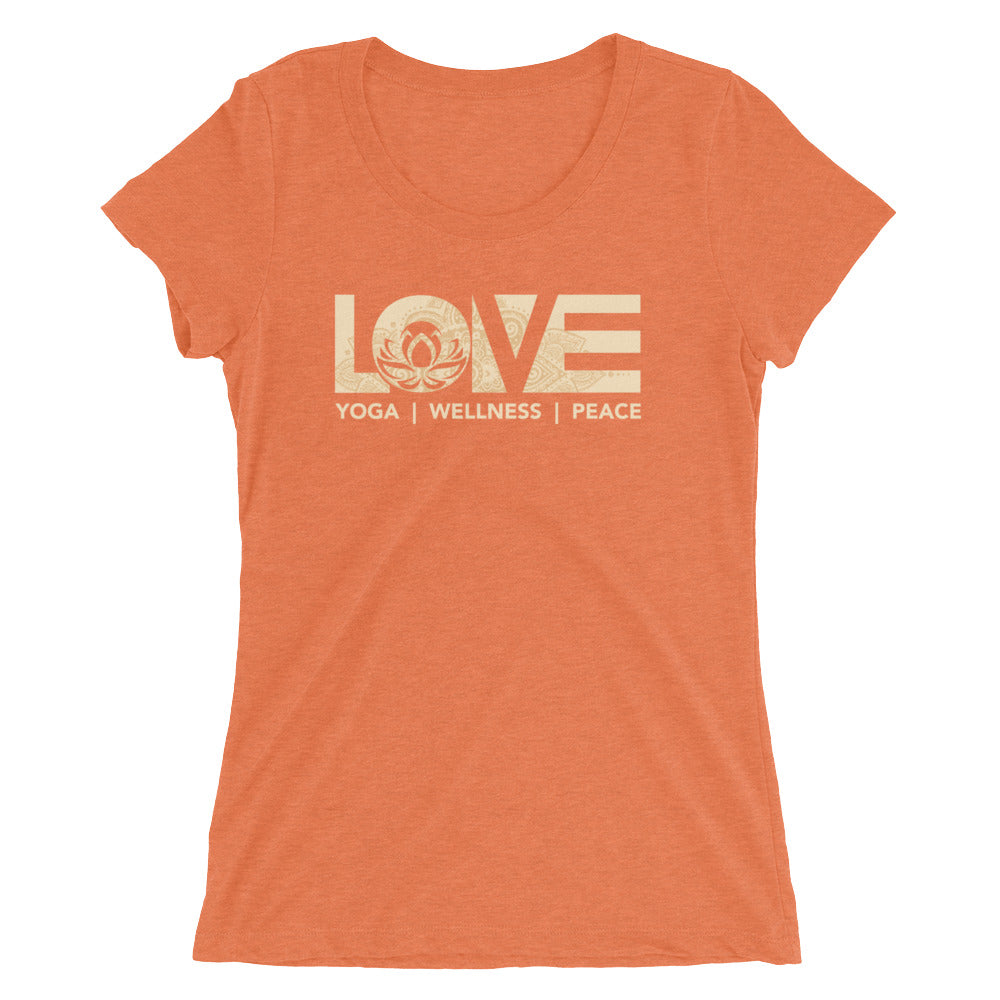 Orange LOV=Yoga Ultra Slim Fit Triblend Tee