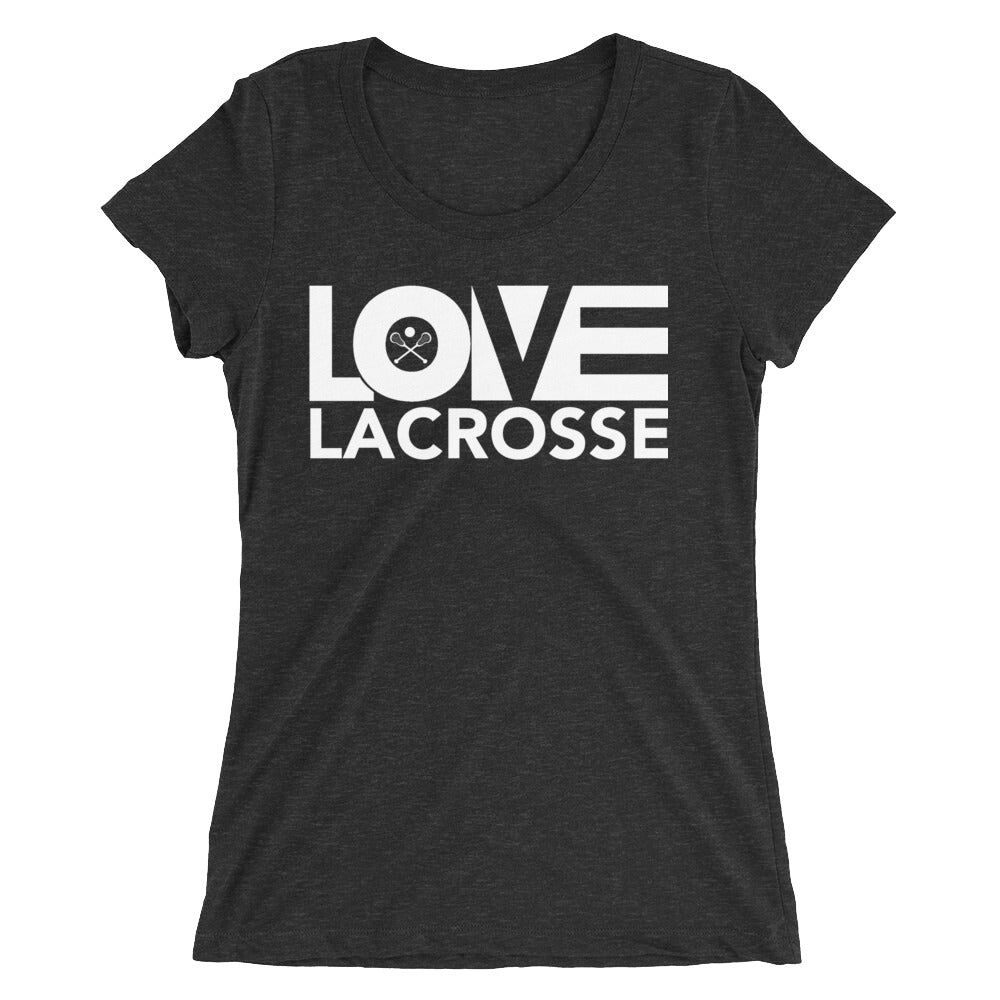 Charcoal black LOV=Lacrosse Ultra Slim Fit Triblend Tee