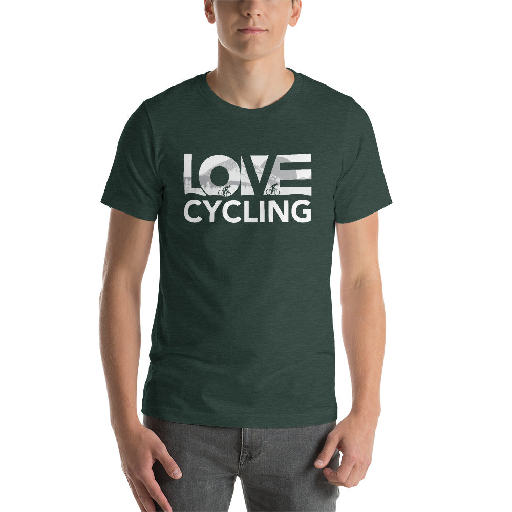 Forest LOV=Cycling Unisex Tee