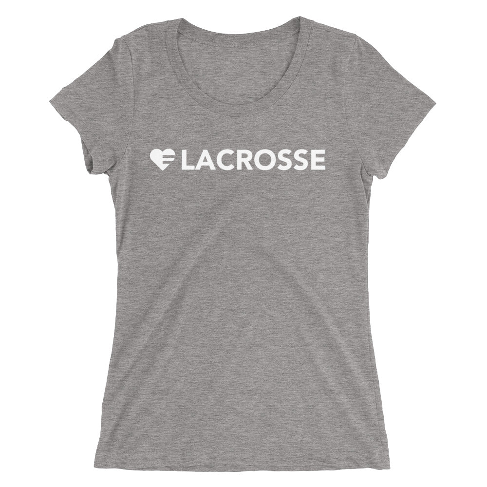 Grey Heart=Lacrosse Ultra Slim Fit Triblend Tee