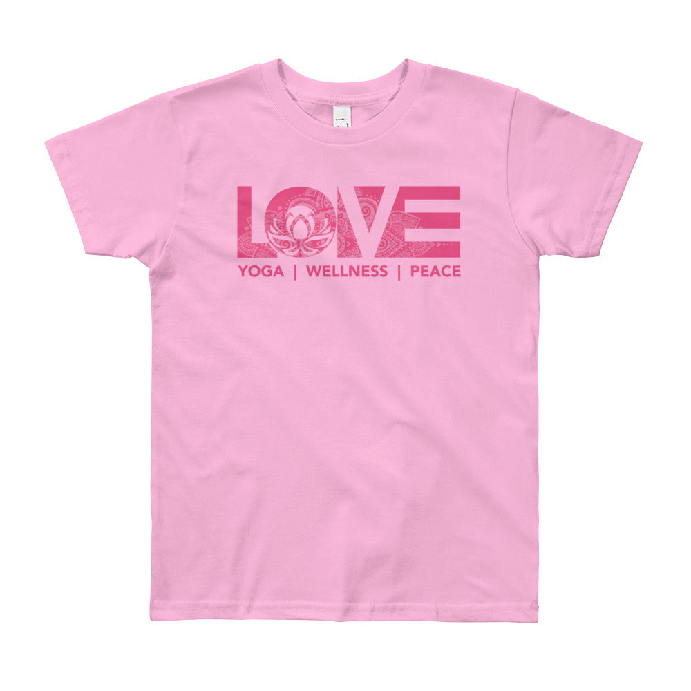 Pink LOV=Yoga Youth Tee